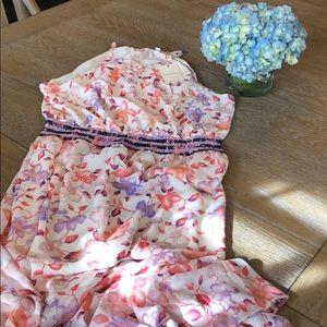 SKIES ARE BLUE Aryana Floral Smocked Waist Dress
